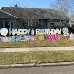 Happy Birthday Yard Sign in Nutley NJ
