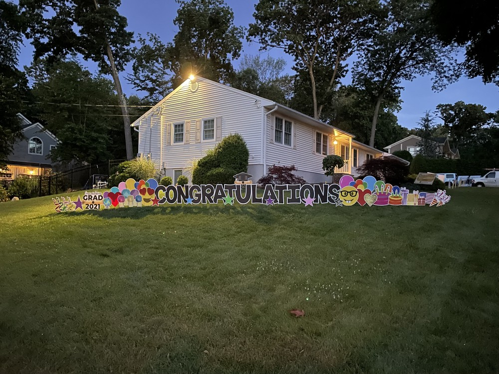 Congratulations Yard Sign for the Entire Family in Wyckoff, NJ