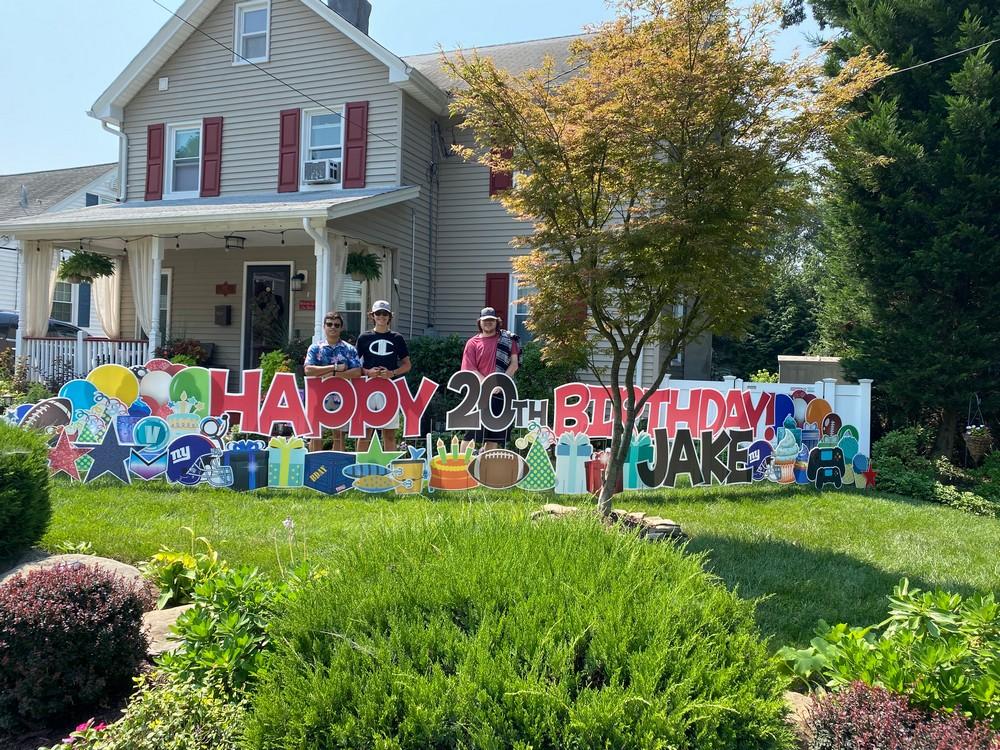 Happy Birthday Sign for an Older Boy in Midland Park, NJ