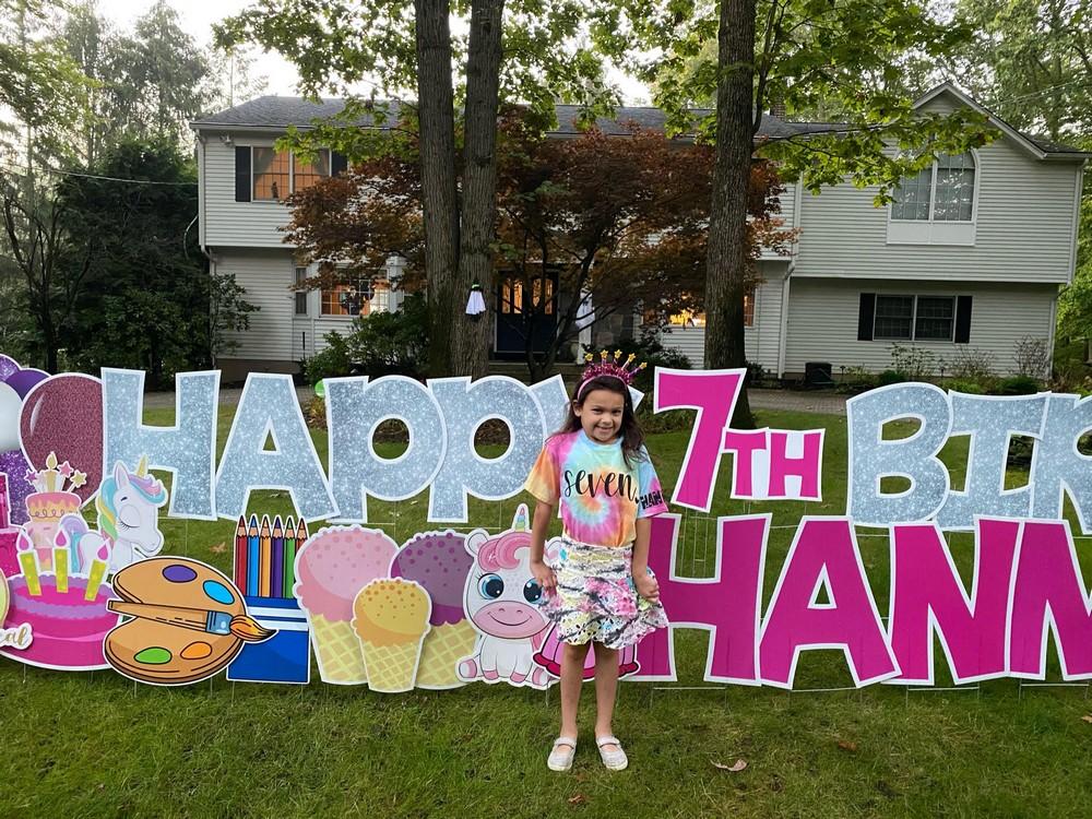 Happy Birthday Yard Card in Woodcliff Lake, NJ